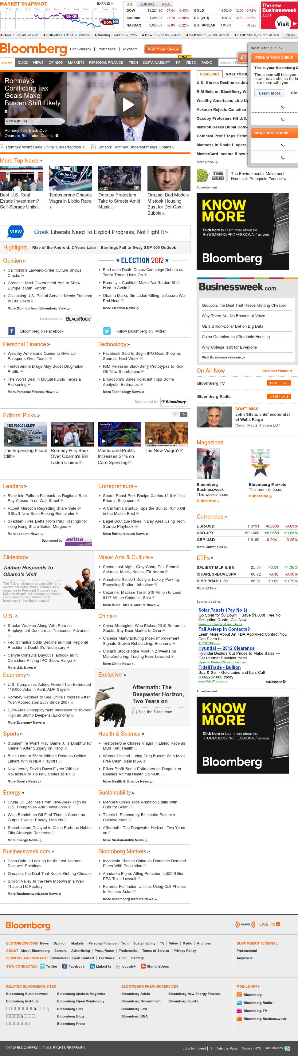 Bloomberg at Wednesday May 2, 2012, 2:01 p.m. UTC