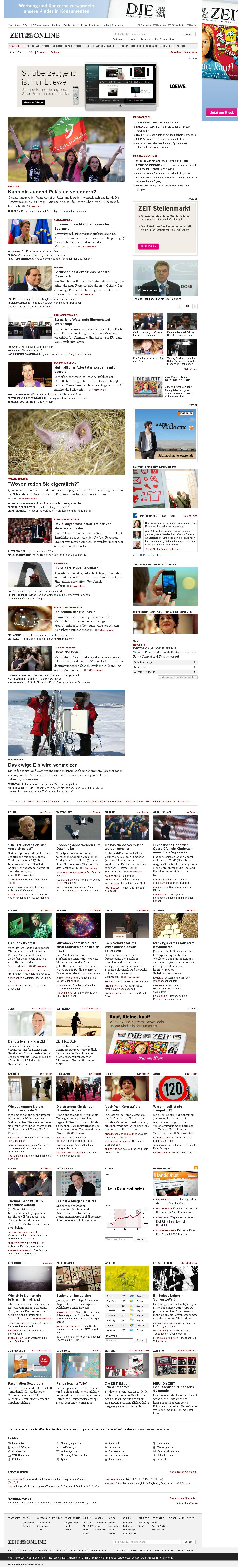 Zeit Online at Thursday May 9, 2013, 10:53 p.m. UTC