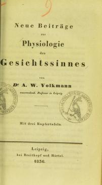 Cover of: Neue Beitr©Þge zur Physiologie des Gesichtssinnes by Alfred Wilhelm Volkmann