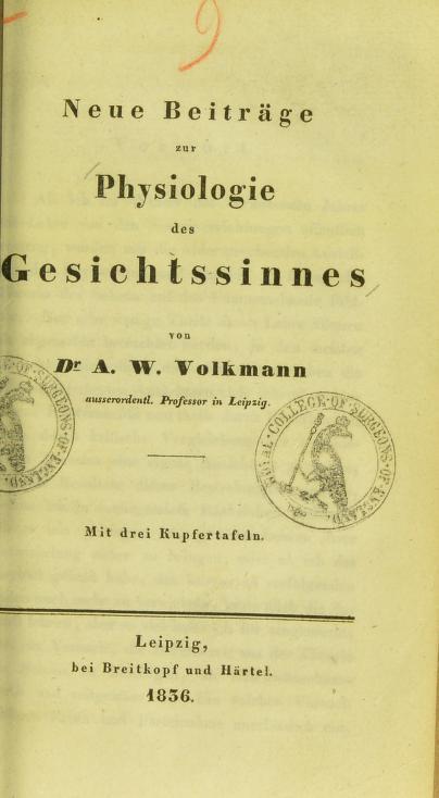 Neue Beitr©Þge zur Physiologie des Gesichtssinnes by Alfred Wilhelm Volkmann